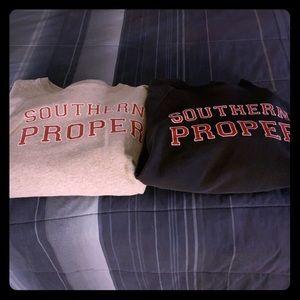Two southern proper sweatshirts